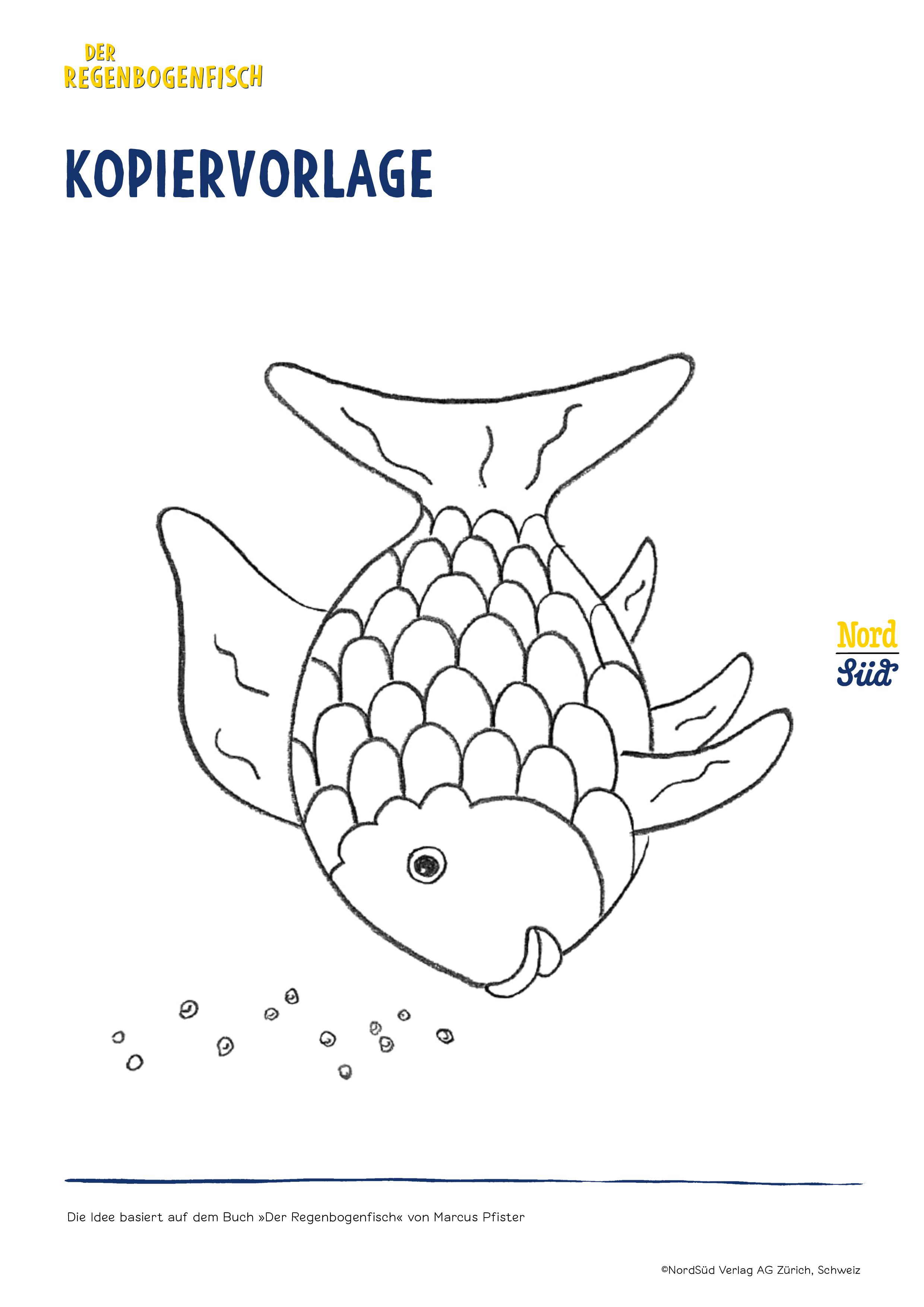 Vorlagen Weihnachtsbasteln.Spiele Basteln Der Regenbogenfisch